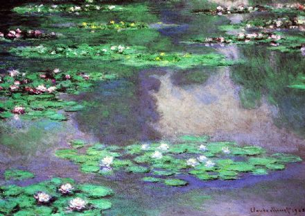 Monet, Claude:  Sea Roses, Water Landscape. Fine Art Print/Poster. Sizes: A4/A3/A2/A1 (00781)